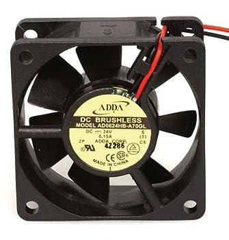 DC Fan Hypro 24 Volt 0.15A 3.6W 4500RPM 23.98CFM 33.9dB Flange Mount