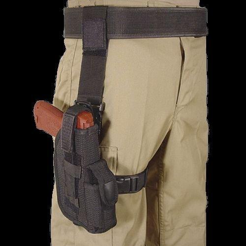 VooDoo Tactical 06-8057001000 Drop Leg Duty Holster, Right Hand, Black