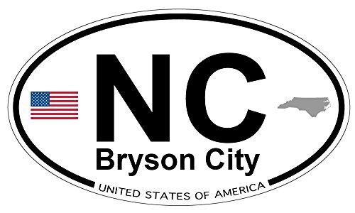 US Decal, Inc. Bryson City, North Carolina Oval Magnet
