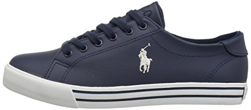 Polo Ralph Lauren Kids Boys' Slater Sneaker, Navy Tumbled, 13 Medium US Little Kid