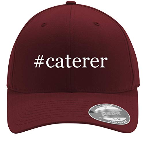 #Caterer - Adult Men's Hashtag Flexfit Baseball Hat Cap, Maroon, Large/X-Large
