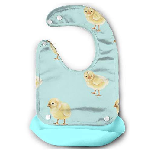 (FGOH-9 Unisex Baby Chicks Easter Teething Bibs for Newborns, Waterproof/Absorbent/Soft/Comfortable Baby Drool Bib-2 Pack)