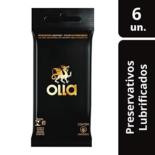 Preservativo Lubrificado Olla Camisinha 6 unidades, Olla, pacote de 6