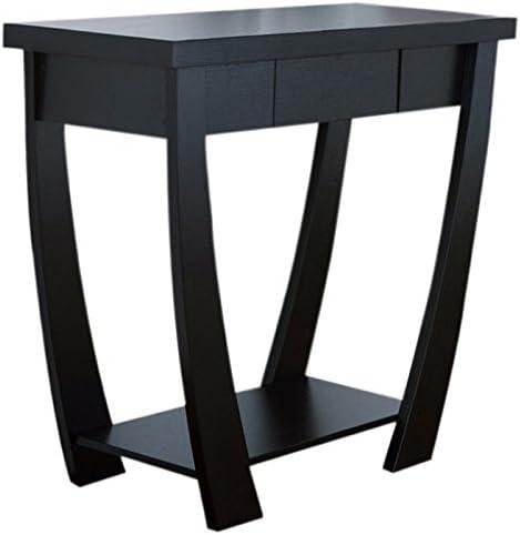 ioHOMES Bond 1-Drawer Console Sofa Table, Black