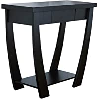 ioHOMES Bond 1-Drawer Console/Sofa Table, Black