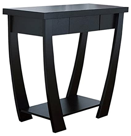 IoHOMES Bond 1 Drawer Console/Sofa Table, Black