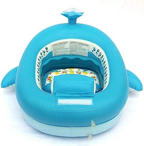 環境に優しいポリ塩化ビニールインフレータブルベビータブクジラ水泳タブ折りたたみトラベルエアシャワー盆地シート浴場 (Color : Blue)