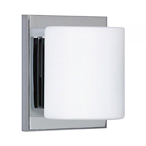 Besa Lighting 1WS-787307-CR 1WS Series Opal Chrome Wall 120v Vanity