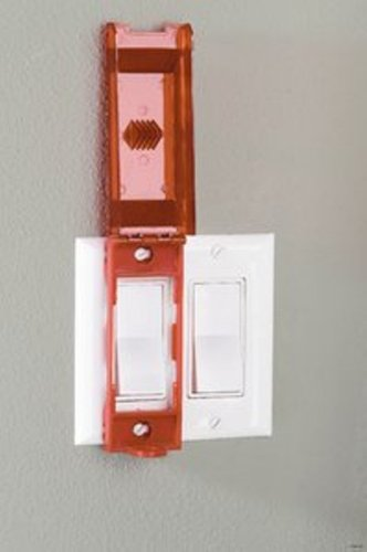 Master Lock Lockout Tagout Device, Universal Wall Switch Cover, 496B