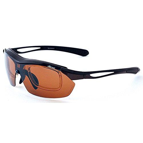 エレッセ Ellese サングラス メンズ ES-S108-2 ブラック×ダークグレー ファッション小物 眼鏡サングラスPC眼鏡 mirai1-523905-ah [並行輸入品] [簡素パッケージ品] B06XSYNZ9Q