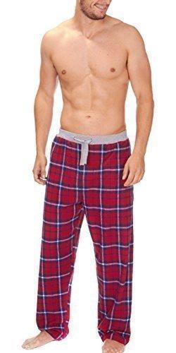 Hombre Tejido Pantalones De Andar Por Casa Pijamas Ropa Para Dormir De cuadros Franela Pijama PJS