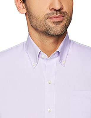 Buttoned Down Men's Slim Fit Supima Cotton Dress Casual Shirt (Discontinued Patterns)