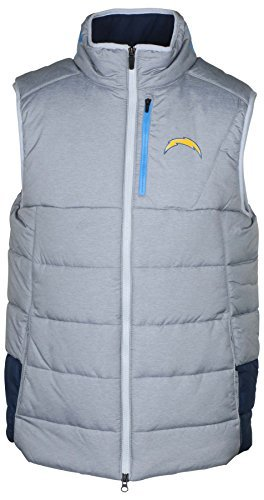 Jacket Field Mens Nike (NIKE Men's NFL On Field Chargers Repel Vest-Wolf Grey/Navy-Medium)