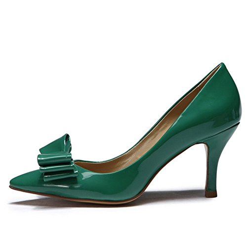 L Orteil Noir PU Femmes de Été pour Et Chaussures Talons La Mariage Talon SoiréE YC Automne FêTe green Pointu Haut RvqUrRx
