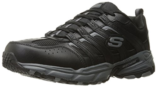 Skechers Sport Men's Stamina PlusRappel Oxford Sneaker, Black/Gray, 8.5 M US