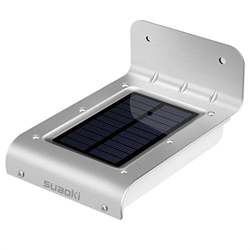 Suaoki Aluminum 16 LED Solar Lights 60 Decibel ...