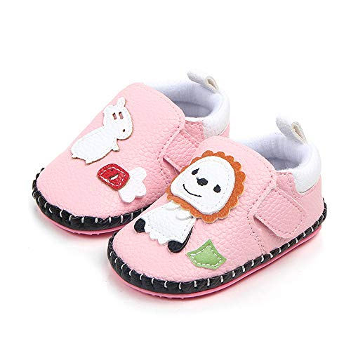 PENGYGY Cute Infant Baby Boys Girls Shoes Newborn Cartoon Animals Lion First Walker Toddler Shoes (Infant Girl Raisin)
