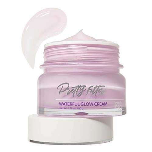 TOUCH IN SOL Pretty Filter Waterful Glow Cream 1.69 fl.oz. (50g) - Moisture Boosting Facial Cream for Makeup… 1
