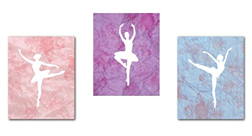Ballet Dancer Collection, Ballerina Silhouette, Wall Art Prints, Kid's Room Decor, Gender Neutral Nursery Decor, Baby Room, Playroom Decor, Girl's Room Decor