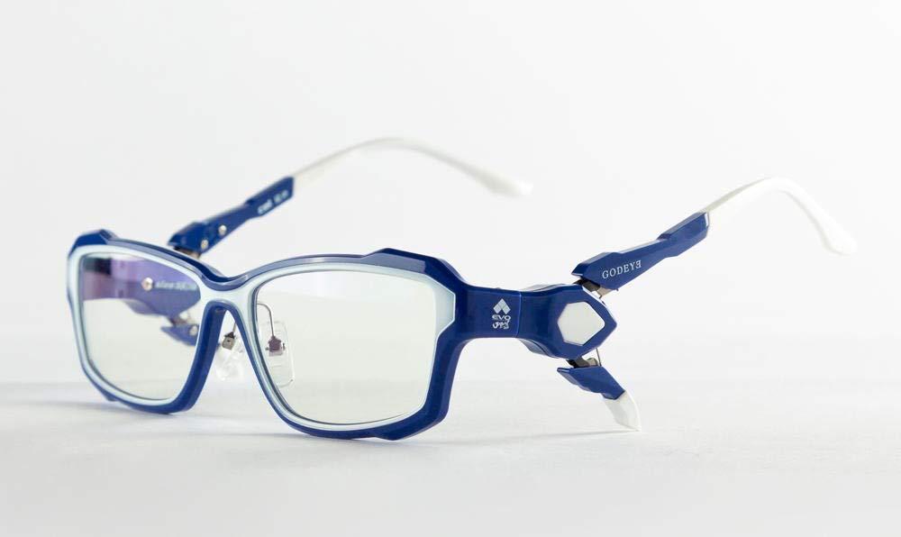 メガネ 度なし ゲーミング アイウェア 紫外線カット ブルーカット GODEYE ゴッドアイGE-01 度付き対応可 Eスポーツ  ブルー B07R1SFG8H