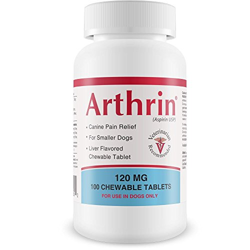 Healthy Pets Arthrin Canine Aspirin 120 mg for Smaller Dogs - Reduce Fever, Pain and Inflammation - Prevent Gastrointestinal Upset - Joint Support Supplement - Liver Flavored - 100 Chewable Tablets ()