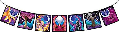 Moon Goddess Art - Decorative Prayer Good Karma Moon Goddess Flags (F0048)