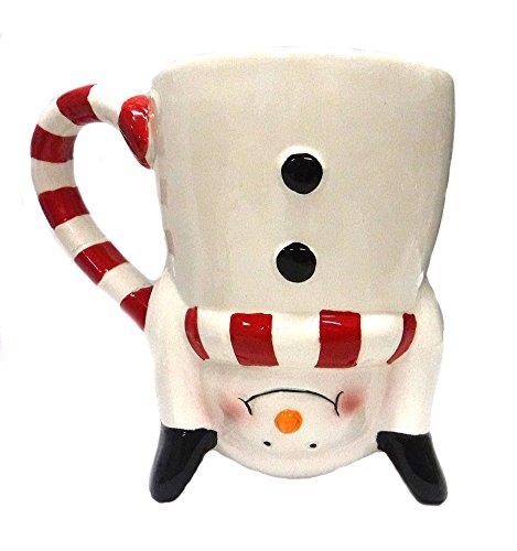 Hand standing Santa Snowman Ceramic Holiday