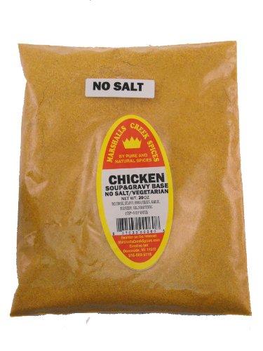 XL REFILL Marshalls Creek Spices Soup Gravy Base, Chicken, No Salt, Vegetarian Seasoning, 20 Ounce