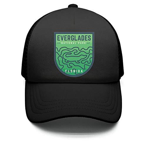 Everglades National Park Florida Unisex Cotton Designer Caps Adjustable Mesh Trucker Hat (Victor Florida Park)