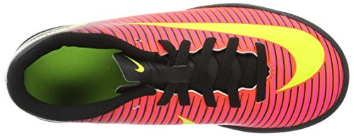 Nike Jr Mercurialx Vortex III TF, Botas de Fútbol Unisex Bebé Naranja (Total Crimson / Vlt-Blk-Pnk Blst)