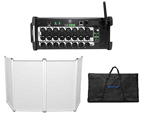 Mackie DL16S 16-Channel Wireless Digital Wi-Fi Mixer w/DSP+Facade+Bag+Scrim