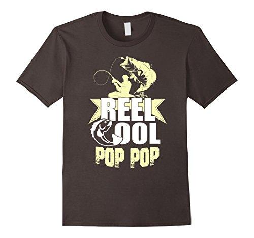 Mens Reel Cool Pop Pop Fishing Fisherman Father's Day Shi...