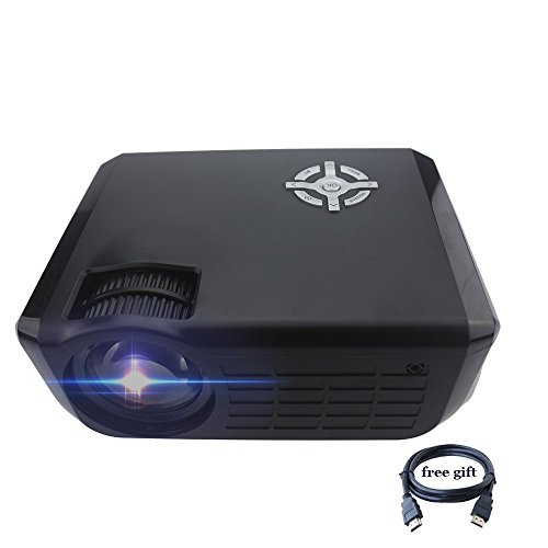 Projector,XINDA 720P Video Projector 2800 lumens with HDMI Cable Big Screen HD Projector Portable Multimedia Projector Home Cinema Theater Support Smartphone/DV/PC/Laptop PS3/PS5 Xbox(Black) by XINDA