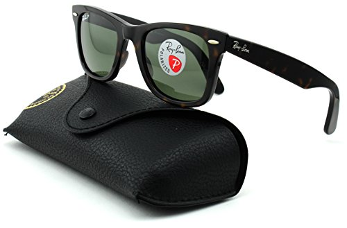Ray-Ban RB2140 Wayfarer Unisex Square Polarized Sunglasses (Tortoise Frame/Crystal Green Polarized Lens 902/58, - 902 Ray 50 Ban Rb2140