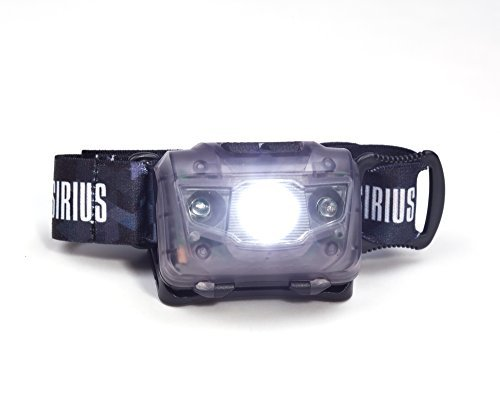 Supersirius LED Headlamp – Super Light Super Bright Flashlight Wred Light – Double Switches – Best Headlamp for Running Cycling Camping Night Reading DIY Home Improvement Projects Black
