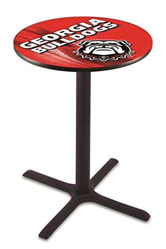 Holland Bar Stool L211B4228GA-Dog-D2 University of Georgia Bulldog Logo Licensed Pub Table, 28