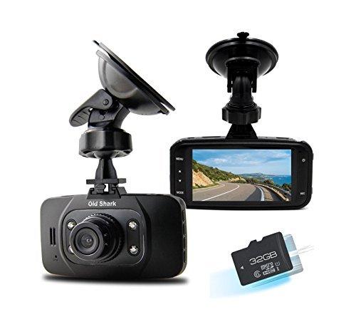 Old Shark 1080P Car DVR GS8000L Pro Mini Dash Camera Recorder Night Vision G-sensor 32GB TF Card