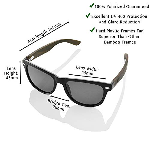 Polarized Bamboo Sunglasses - Eco-Friendly, Made For Men and Women, UV400 Protection, Light weight, free repair tool included - ShoppBoss by ShoppBoss (Image #2)