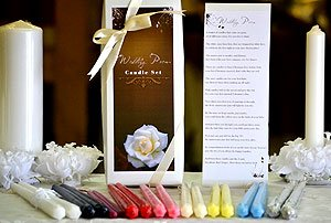 Bridal Poem Taper Candles For Wedding/Dinner, Holiday Event, Home Decoration, Gift Box, 1 pair of 12