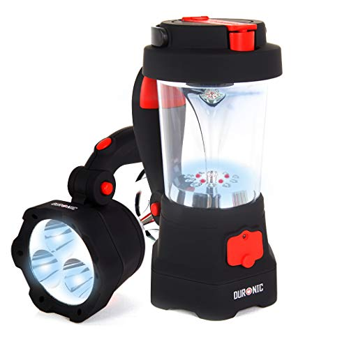 Duronic Hurricane 4 in 1 Rechargeable Wind-Up Dynamo Flashing Red LED, 10...