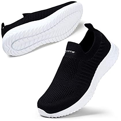 YKH Walking Shoes Womans Trainers Athletic Casual Tennis Shoes Fashion Slip on Sneakers