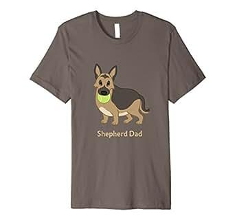 Mens Cute Fat German Shepherd Dad Dog Lover Shirt 2XL Asphalt