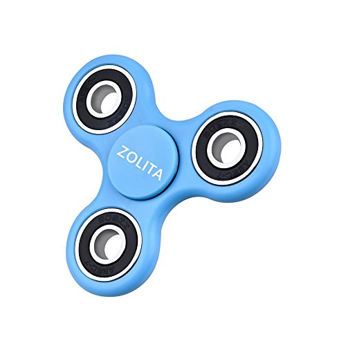 Zhonglit Tri Fidget Hand Spinner Toy EDC Sensory Fidget Spinner For Autism and ADHD Kids / Adults Funny Antistress Toy (Blue)