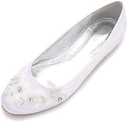 Lianyunneiyi Rounded Toe Lady Flat Shoes Lace Applique Sweet