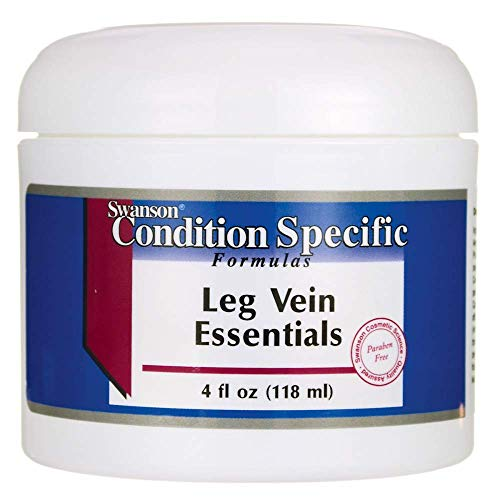 Swanson Leg Vein Essentials Cream 4 fl Ounce (118 ml) Cream