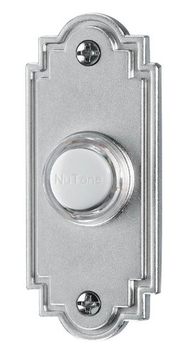 (NuTone PB15LSN Wired Lighted Door Chime Push Button, Satin)