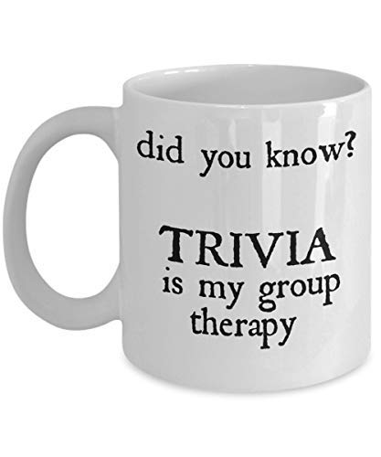 Trivia for Kids Gifts Mug Game as Seen on Shirt Did you know Facts Funny Group Therapy for Questions Cards Player Who Cracks the Answers (Trivia Crack Best Cards)