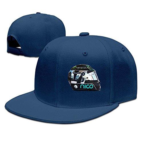 BAI XUE Nico Rosberg Helmet Logo Baseball Hat Cap Navy ()