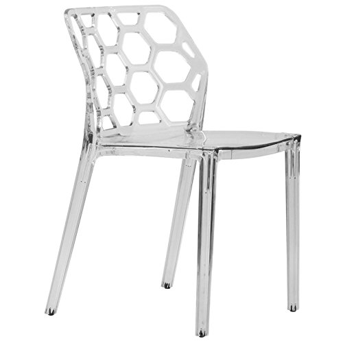 LeisureMod Modern Dining Chair, Clear ()