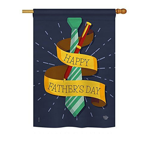 Ornament Collection H192064 Happy Smartest Dad Summer Father's Day Decorative Vertical House Flag, 28'' x 40'' inch, Multi-Color by Ornament Collection